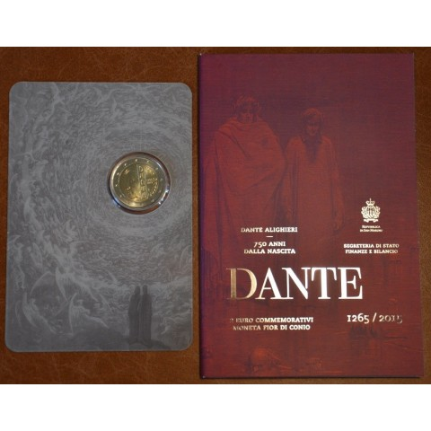2 Euro San Marino 2015 - 750th anniversary of the birth of Dante Alighieri  (BU)