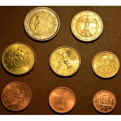 Sada 8 talianskych mincí 2002 (UNC)
