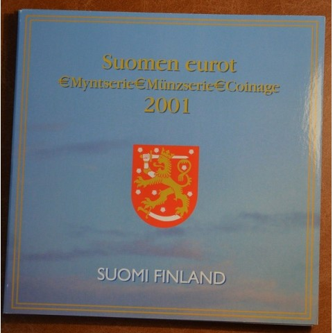 Sada 8 fínskych mincí 2001 (BU)