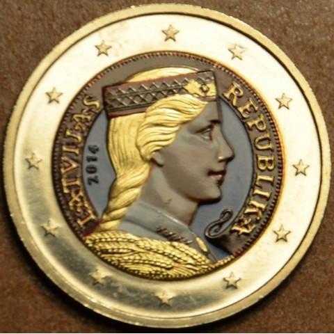 2 Euro Latvia 2014 (colored UNC)
