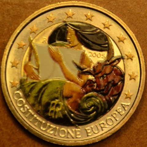 2 Euro Italy 2005 - 1st anniversary of the signing of the European Constitution colored (UNC)