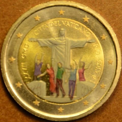 2 Euro Vatican 2013 - 28. World Youth day - Rio de Janeiro (colored UNC)