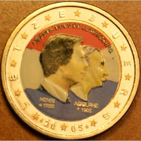 2 Euro Luxembourg 2005 - 50th birthday of Grand Duke Henri... (colored UNC)
