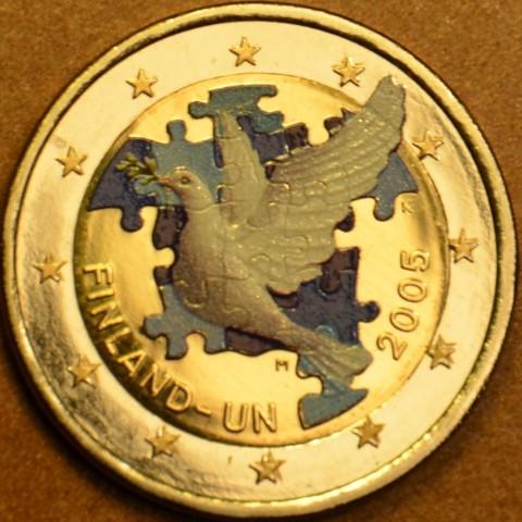 2 Euro Finland 2005 - 60th anniversary of the establishment of the UN  (colored UNC)
