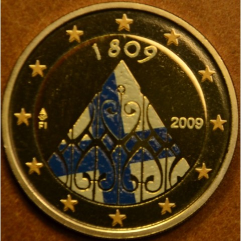 2 Euro Finland 2009 - 200 years of Finnish autonomy (colored UNC)