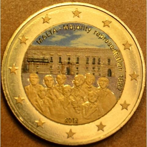 2 Euro Malta 2012 - 1887 Majority Representation II.  (colored UNC)