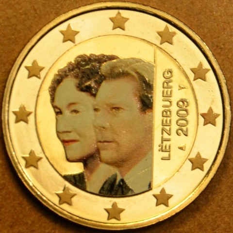 2 Euro Luxembourg 2009 - 90th Anniversary of Grand Duchess Charlotte's Accession to the Throne (colored UNC)