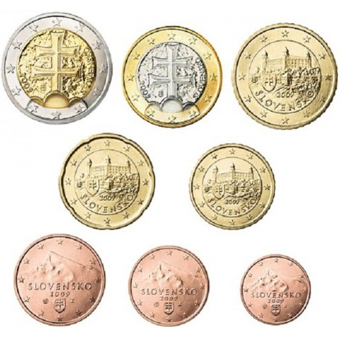 Set of Slovak coins 2009 (UNC)