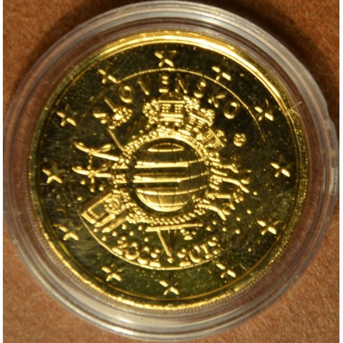 2 Euro Slovakia 2012 - Ten years of Euro  (gilded UNC)