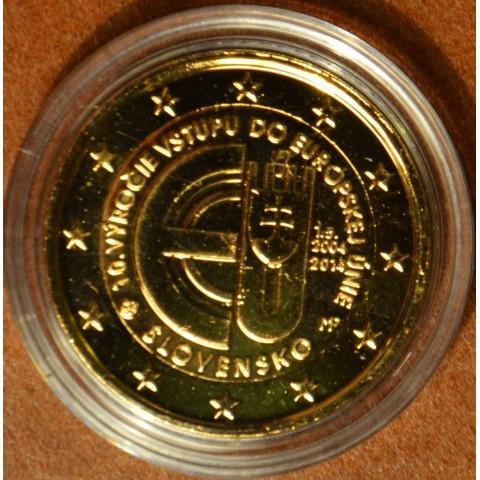 2 Euro Slovakia 2014 - 10 years in EU (gilded UNC)