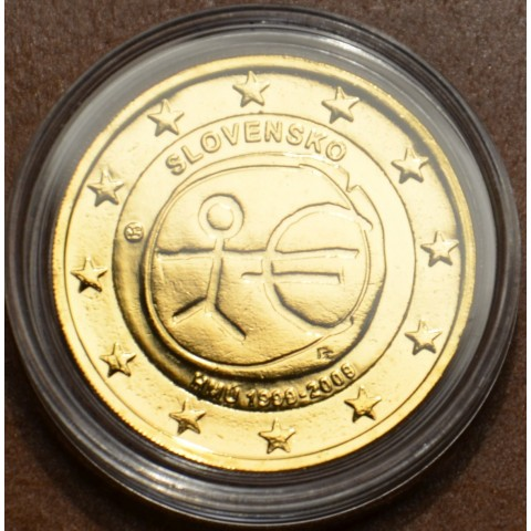2 Euro Slovakia 2009 - 10th Anniversary of the Introduction of the Euro (gilded UNC)
