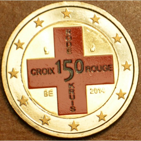2 Euro Belgium 2014 - 150th Anniversary of the Belgian Red Cross (colored UNC)