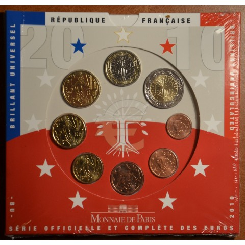 Official set of 8 French coins 2011  (BU)