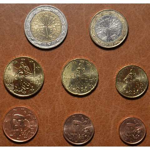 Set of 8 eurocoins France 1999 (UNC)