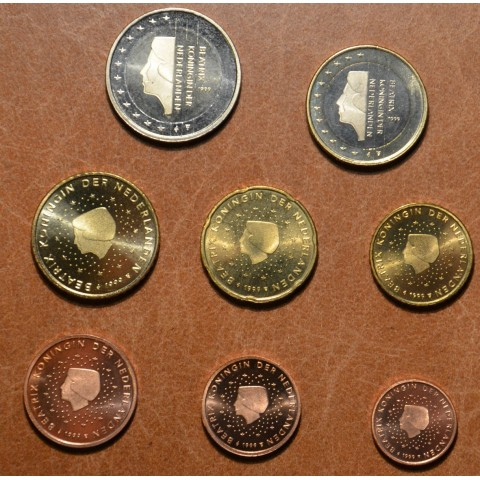 Set of 8 coins Netherlands 1999 (UNC)