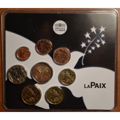 Official set of 8 French coins 2015 Peace (BU)