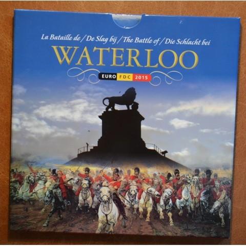 Official set of coins Belgium 2015  + 2,5 Euro Waterloo (BU)