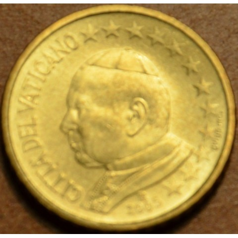 50 cent Vatican His Holiness Pope John Paul II 2005 (BU)