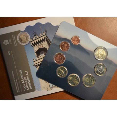 Official 8 coins set of San Marino 2015 (BU)