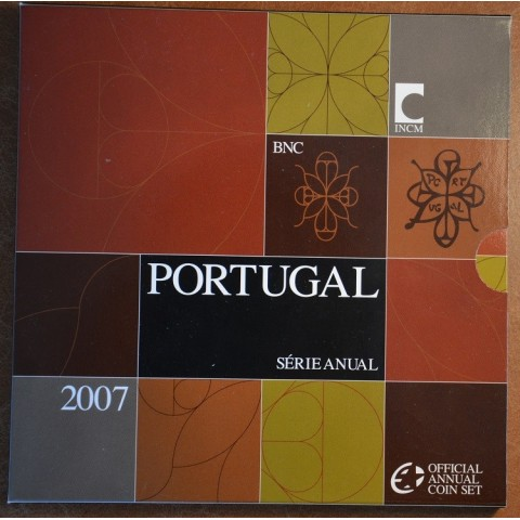 Official set of 8 Portugal coins 2007  (BU)