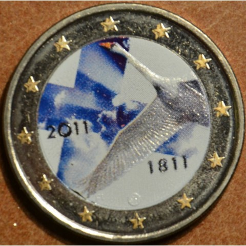 2 Euro Finland 2011 - 200th anniversary of Bank of Finland II. (colored UNC)