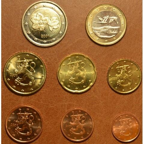 Set of 8 eurocoins Finland 2001 (UNC)
