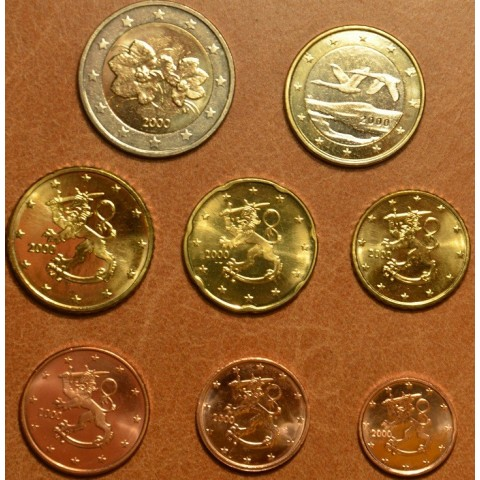 Set of 8 eurocoins Finland 2000 (UNC)
