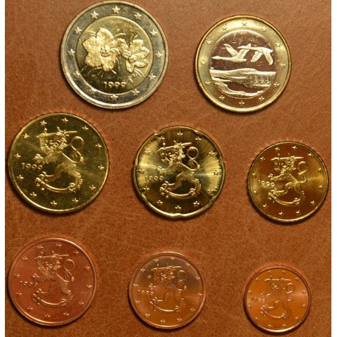 Set of 8 eurocoins Finland 1999 (UNC)