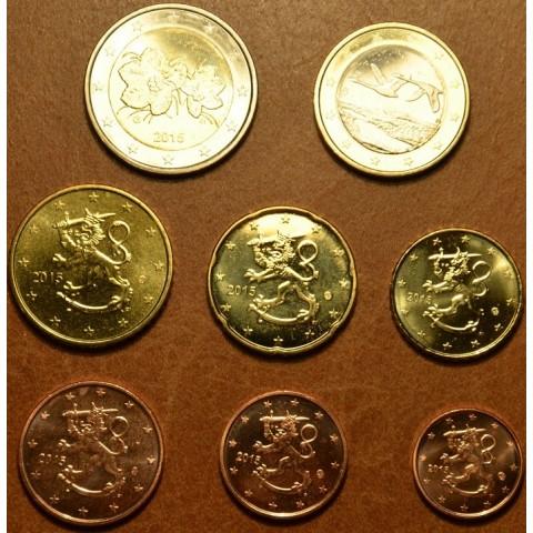 Set of 8 eurocoins Finland 2015 (UNC)
