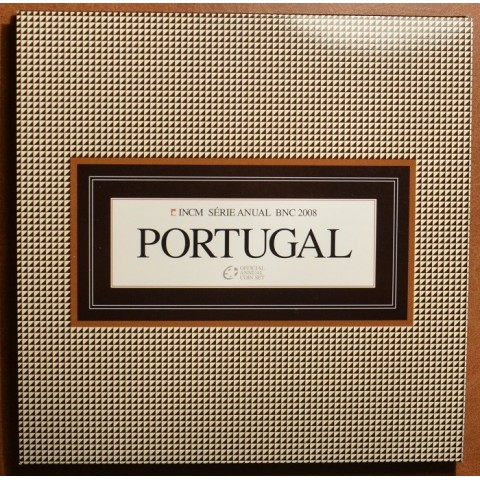 Official set of 8 Portugal coins 2008  (BU)