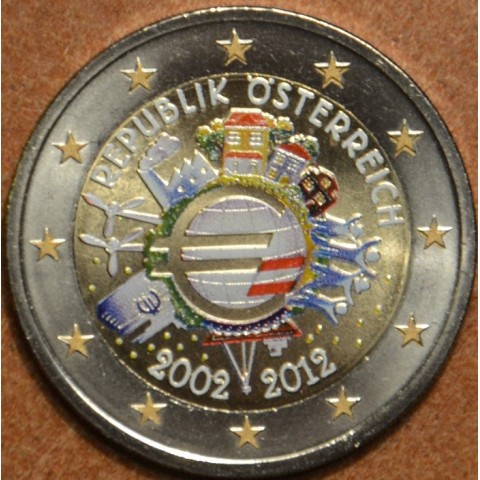 2 Euro Austria 2012 - Ten years of Euro  (colored UNC)