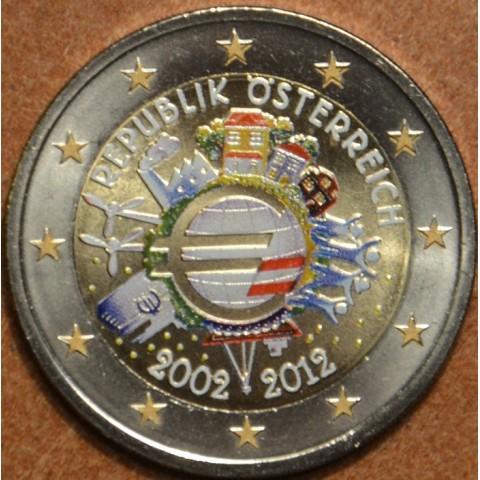 2 Euro Rakúsko 2012 - 10. výročia vzniku Eura (farebná UNC)