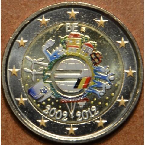 2 Euro Belgium 2012 - Ten years of Euro  (colored UNC)