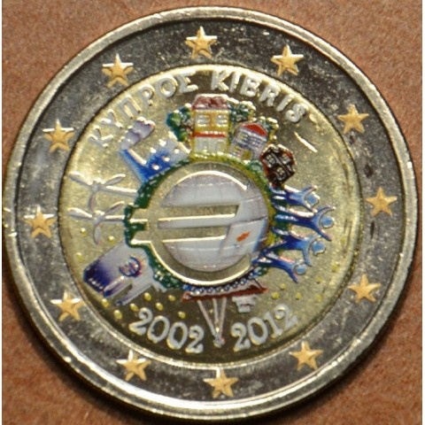 2 Euro Cyprus 2012 - Ten years of Euro  (colored UNC)