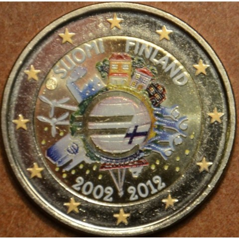2 Euro Finland 2012 - Ten years of Euro  (colored UNC)