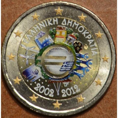 2 Euro Greece 2012 - Ten years of Euro  (colored UNC)
