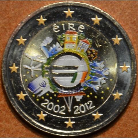 2 Euro Írsko 2012 - 10. výročia vzniku Eura (farebná UNC)