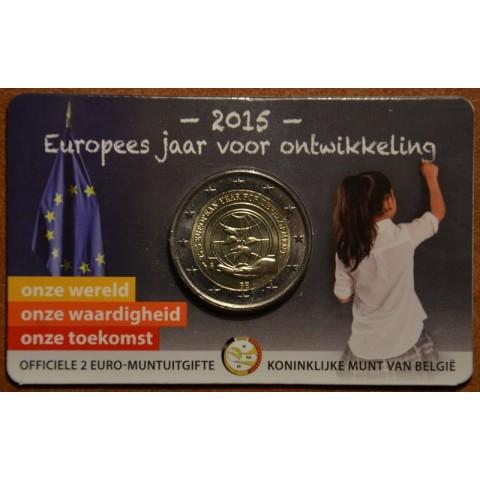 2 Euro Belgicko 2015 - Európsky rok rozvoja - francúzska strana (BU)