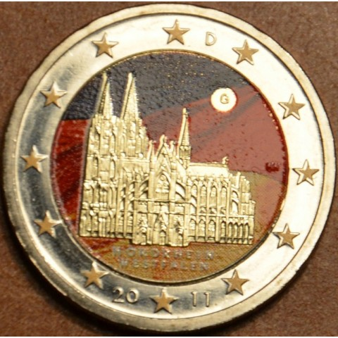 2 Euro Germany 2011 - North Rhine-Westphalia: Cathedral in Köln II.  (colored UNC)