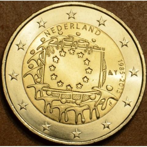 2 Euro Holandsko 2015 - 30 rokov Europskej vlajky  (UNC)