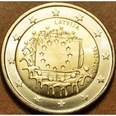 2 Euro Lotyšsko 2015 - 30 rokov Europskej vlajky  (UNC)