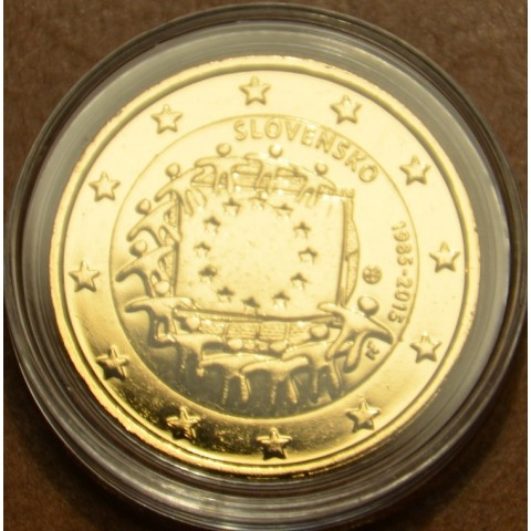 2 Euro Slovakia 2015 - 30 years of European flag (gilded UNC)