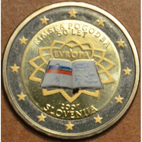 2 Euro Slovenia 2007 - 50th anniversary of the Treaty of Rome (colored UNC)