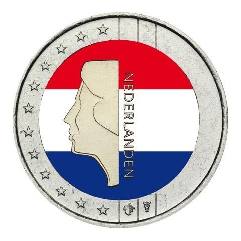 2 Euro Netherlands - Beatrix (colored UNC)