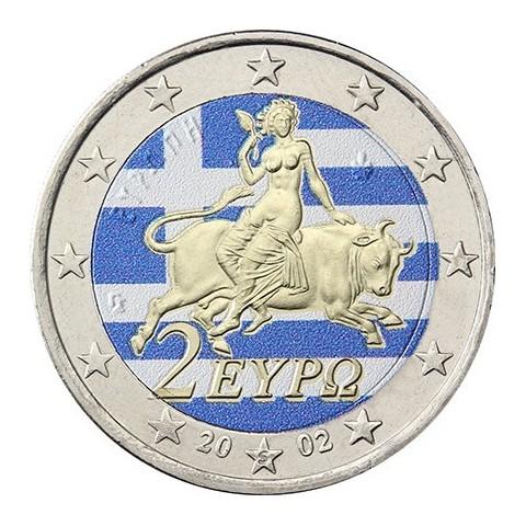 2 Euro Greece - Europe (colored UNC)