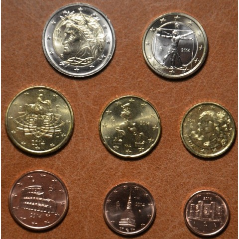 Set of 8 coins Italy 2014 (UNC)