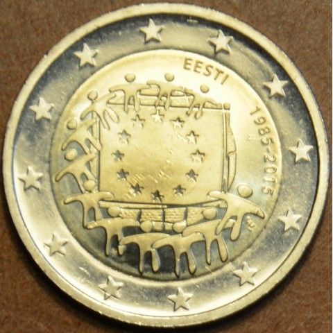 2 Euro Estónsko 2015 - 30 rokov Europskej vlajky  (UNC)