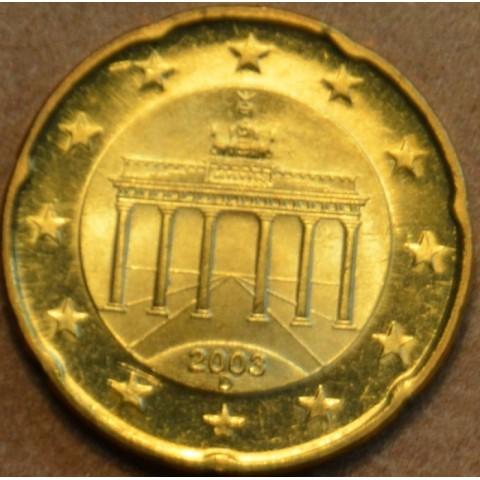 """20 cent Germany """"D"""" 2003 (UNC)"""