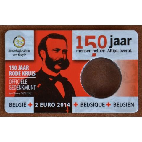 Coins card holder Belgium 2014 Red Cross