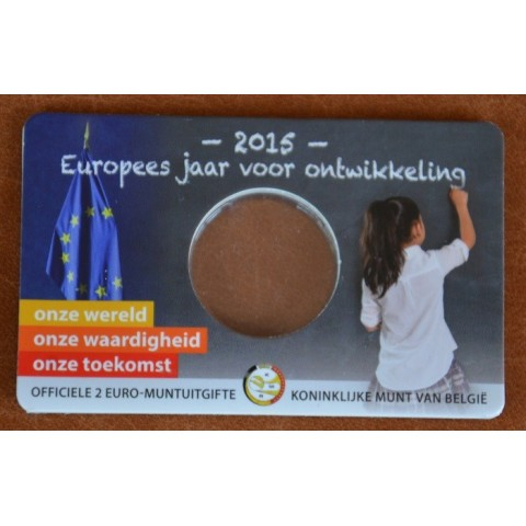 Karta na Belgicko 2015 pamätnú 2 Euro mincu